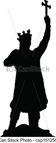Vector Clipart of silhouette of stefan cel mare.