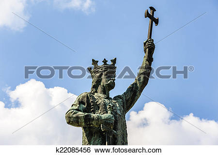 Stock Images of Monument of Stefan cel Mare in Chisinau, Moldova.