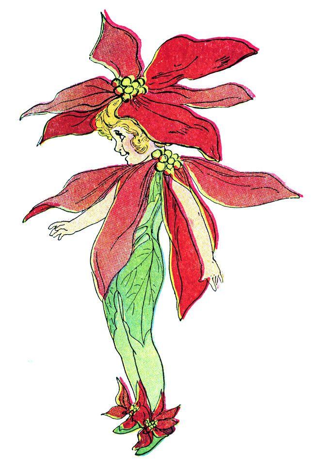 Christmas Clip Art Rose.