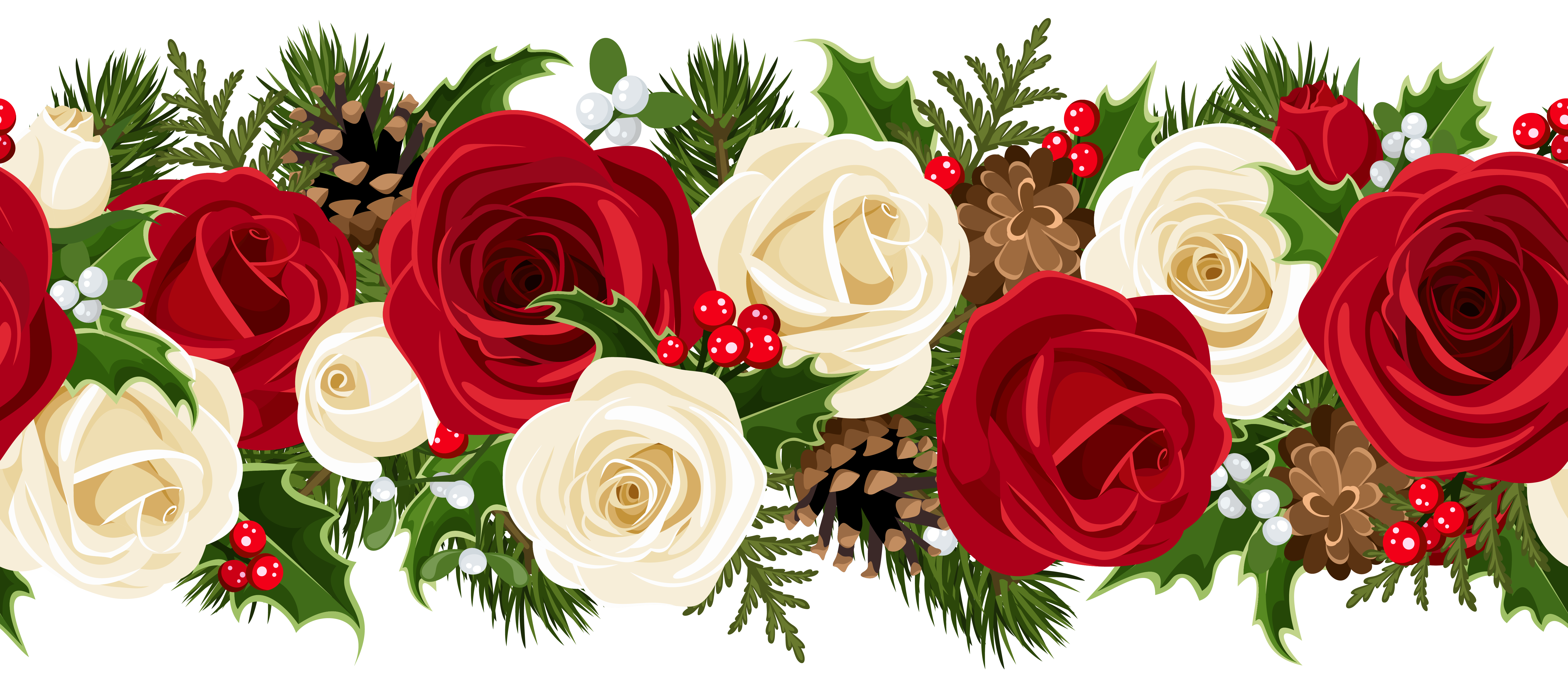 Christmas roses clipart #2