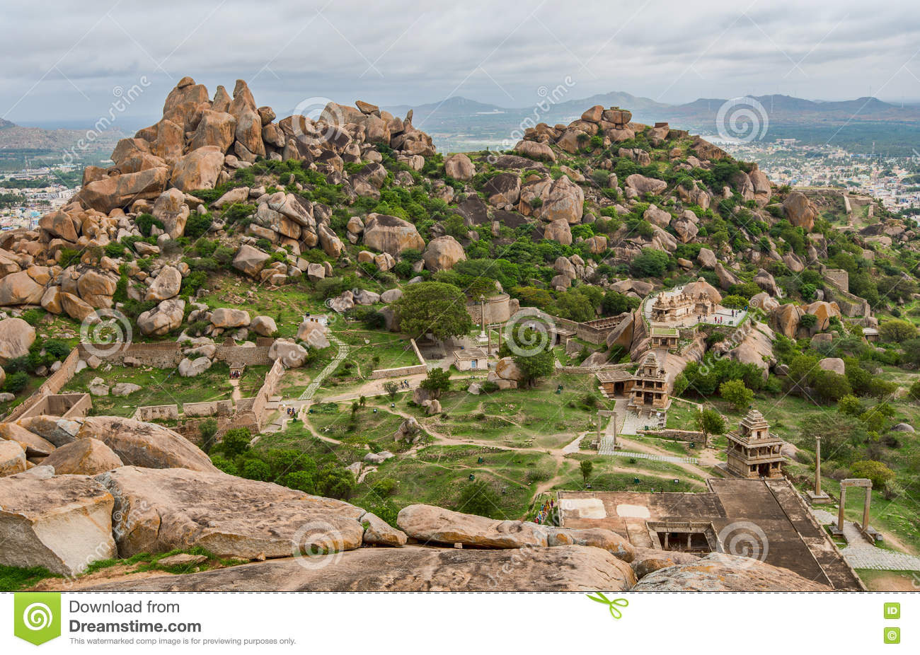 View From Atop Thuppada Kola Betta Inside Chitradurga Fort.