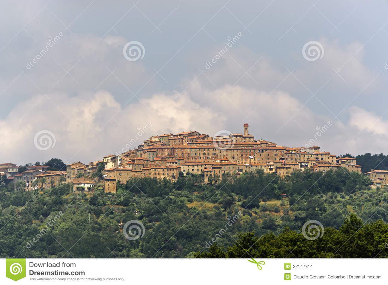 Chiusdino (Tuscany) Stock Images.