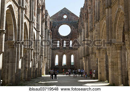 Pictures of Ruins of the former Cistercian abbey Abbazia San.
