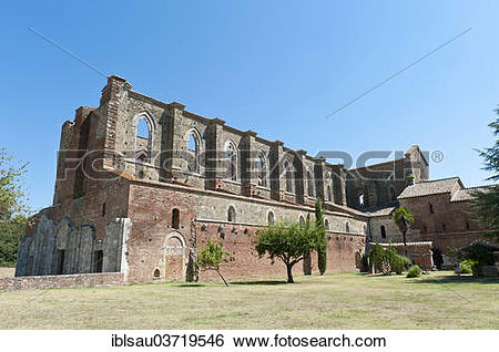 Stock Images of Ruins of the former Cistercian abbey Abbazia San.