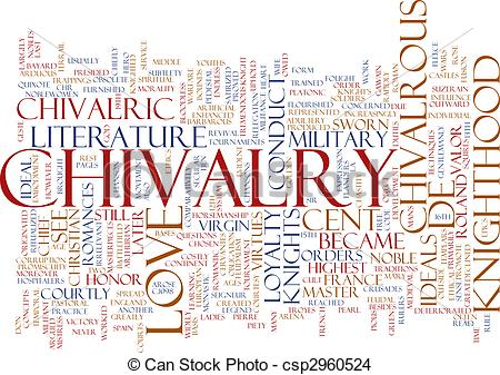 Drawing of Chivalry word cloud.