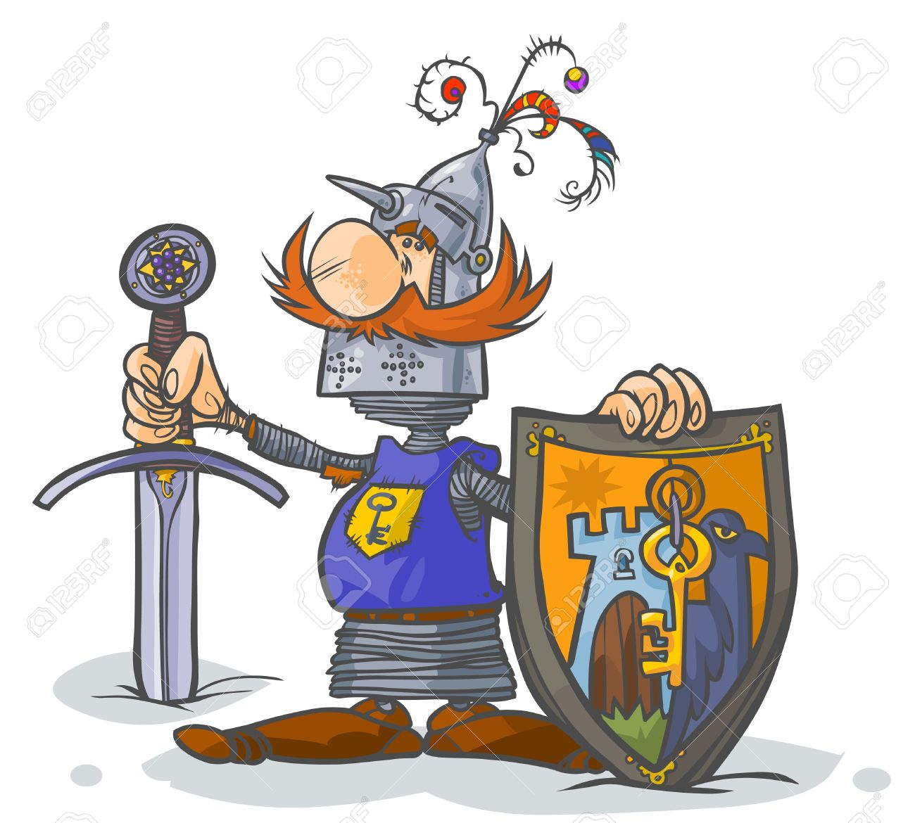 Cartoon Knight Royalty Free Cliparts, Vectors, And Stock.