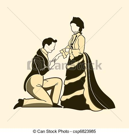 Clipart Vector of Vintage proposal.