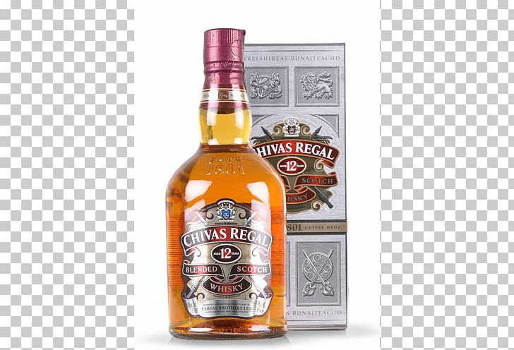 Chivas Regal Blended Whiskey Scotch Whisky Distilled.