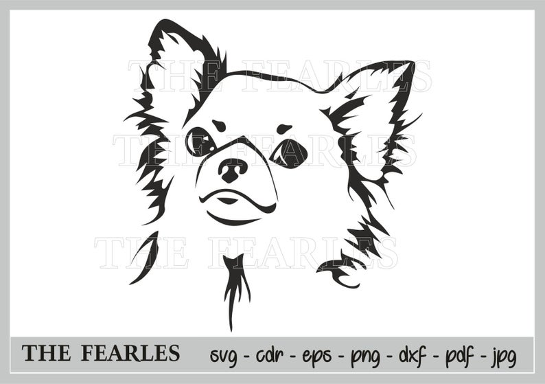 Chihuahua clipart, Chihuahua dog PL, svg formats, JPG, PNG, CDR, PDF, EPS,  DXF. Digital file, Silhouette figure, Chihuahua.