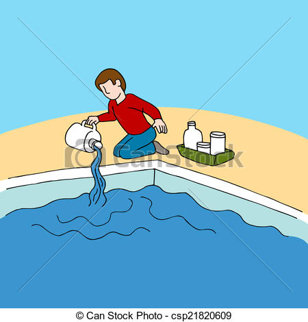 Chlorine water clipart.