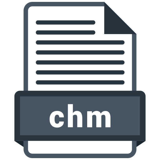 Chm file Icon of Colored Outline style.