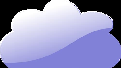 Wektor światło chmura clipart.