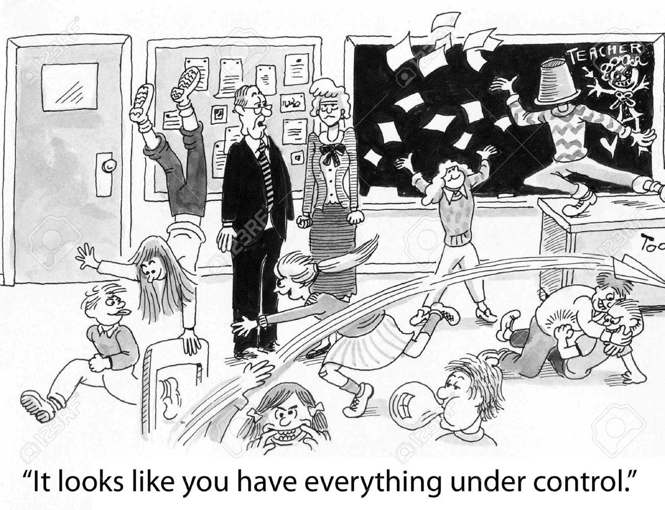 Classroom chaos clipart.