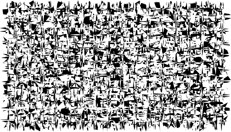 Clipart of chaos of people.