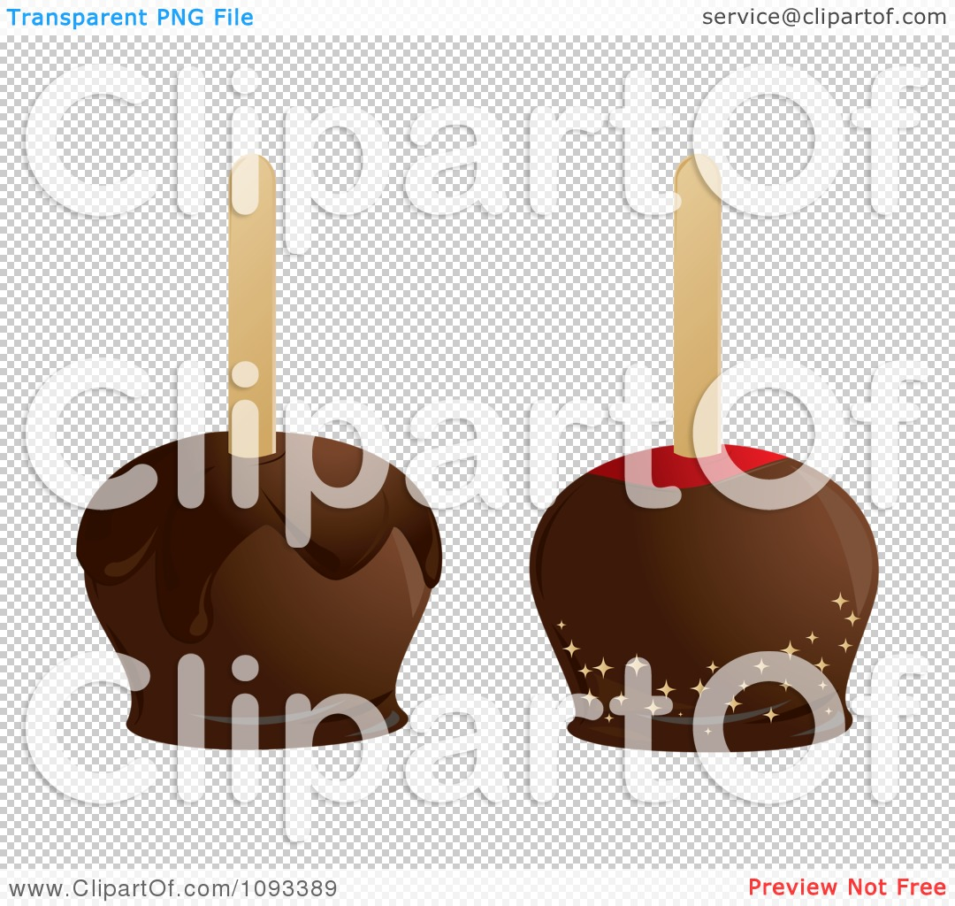 Clipart Chocolate Apples.