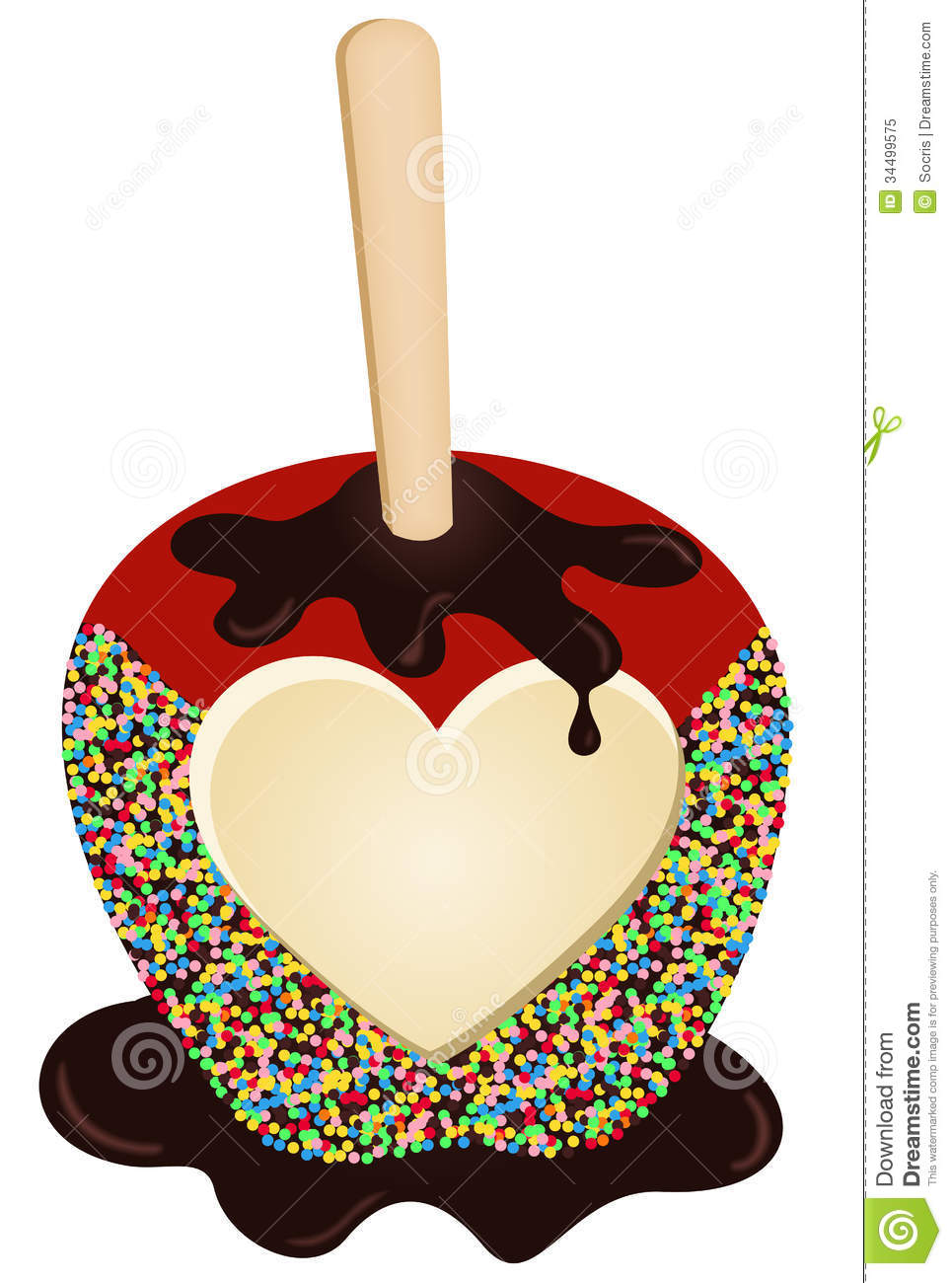 Chocolate Apple Love Royalty Free Stock Photo.