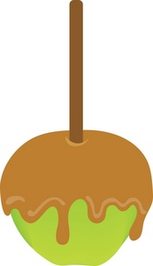 Chocolate caramel apple clipart.