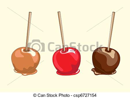 Caramel apple Vector Clipart EPS Images. 101 Caramel apple clip.