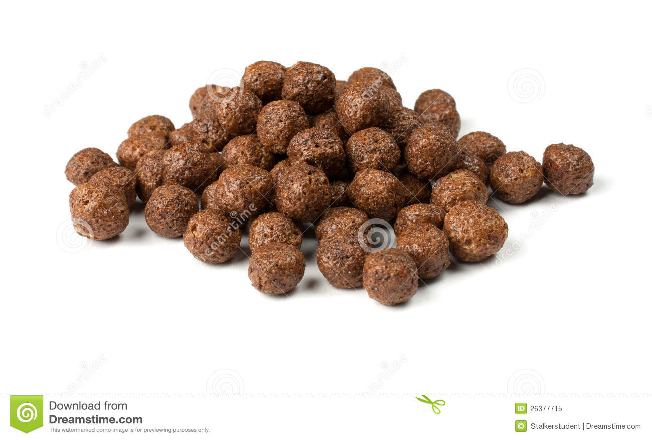 Crunchy Chocolate Balls Royalty Free Stock Photo.
