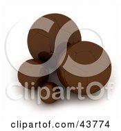 Clipart Illustration of a Chocolate Cow With Milk Chocolate Balls.