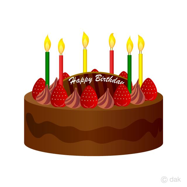 Free Chocolate Strawberry Birthday Cake Clipart Image|Illustoon.