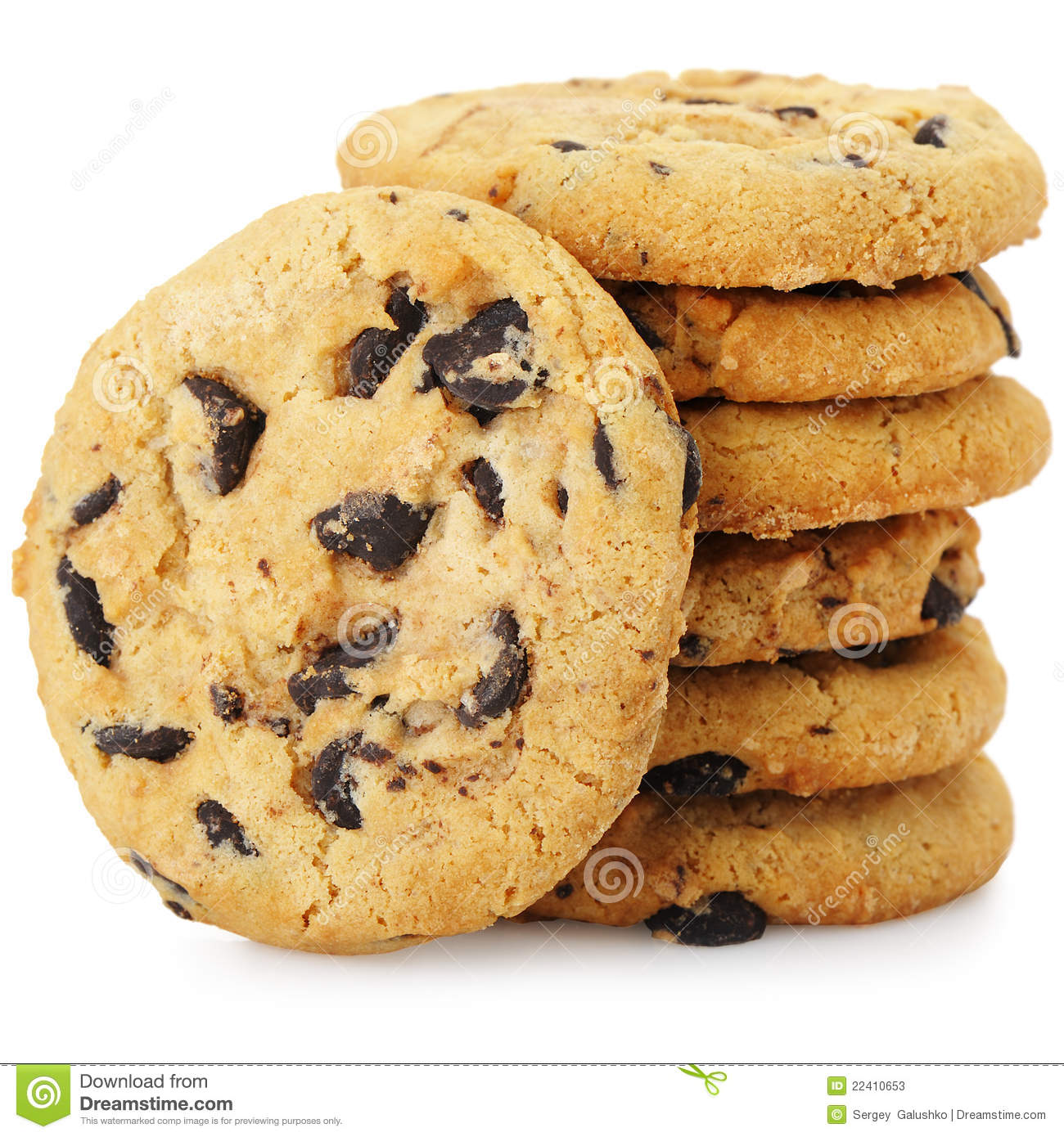 Cookies chocolate chip clipart.