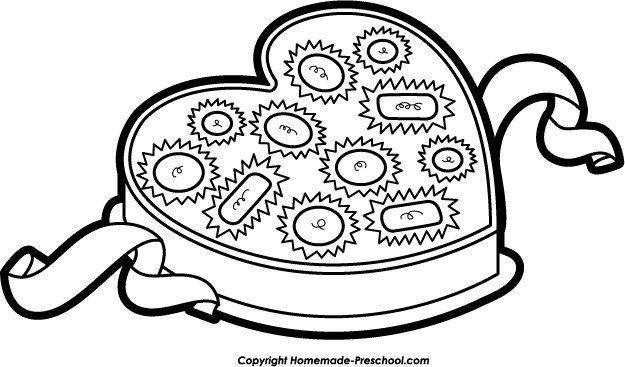 Valentines Clipart Black And White.