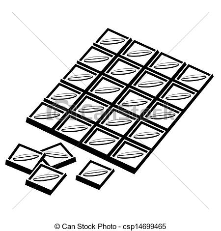 Chocolate black and white clipart » Clipart Station.