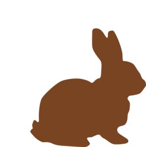 Chocolate Easter Bunny PNG, SVG Clip art for Web.