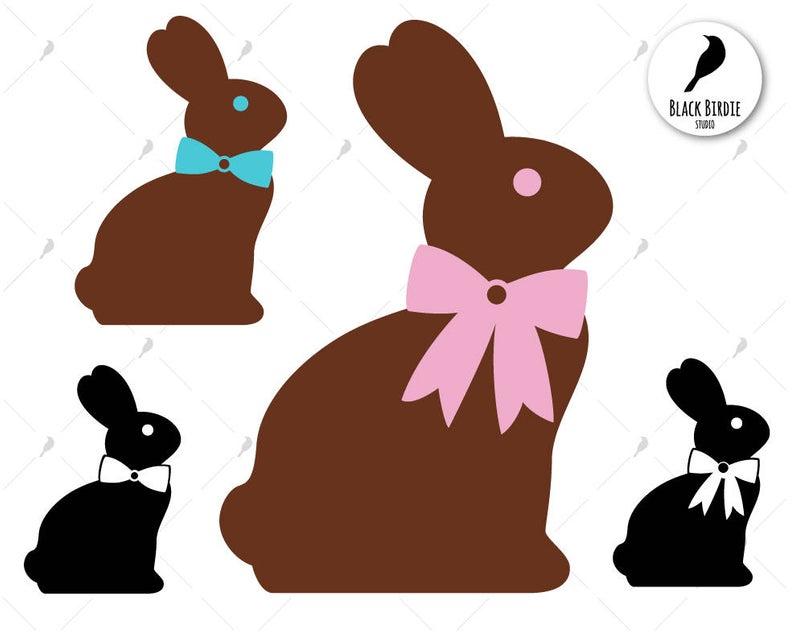 Chocolate Easter bunny svg, easter svg, easter clipart, chocolate bunny  clipart, chocolate svg, cricut.