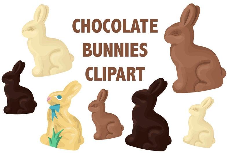 CHOCOLATE BUNNY CLIPART.