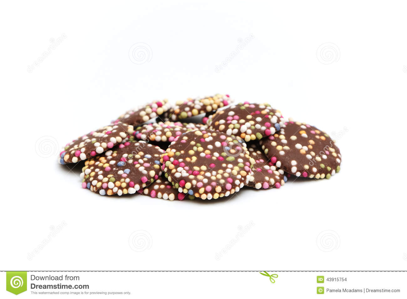 Chocolate Buttons Sprinkles Stock Photos, Images, & Pictures.