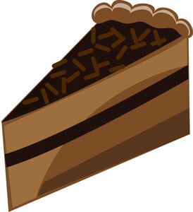 Slice of chocolate cake clipart » Clipart Portal.