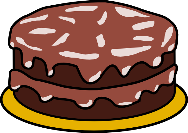 chocolate cake with no candles clip art.