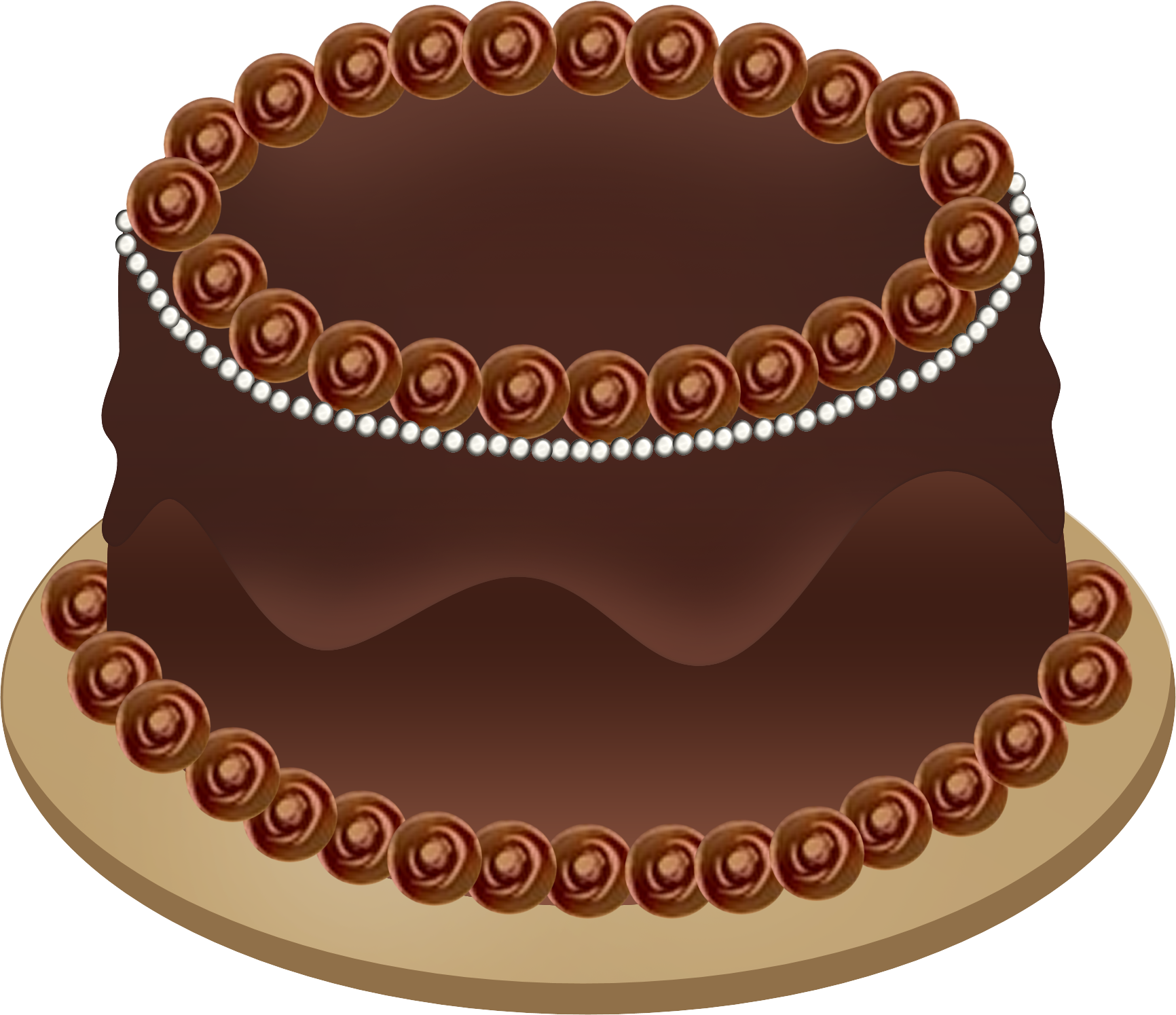 Chocolate Birthday Cake Clipart.