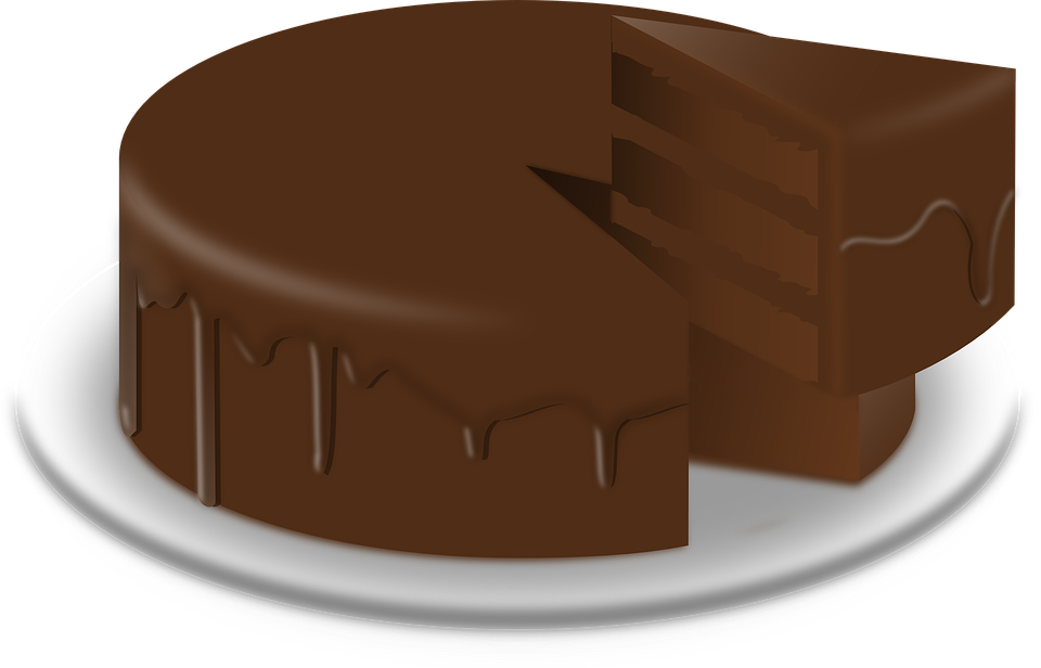 Free vector graphic: Chocolate Cake, Cake, Baked Goods.