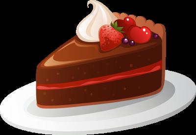 Cute slice of cake clipart.