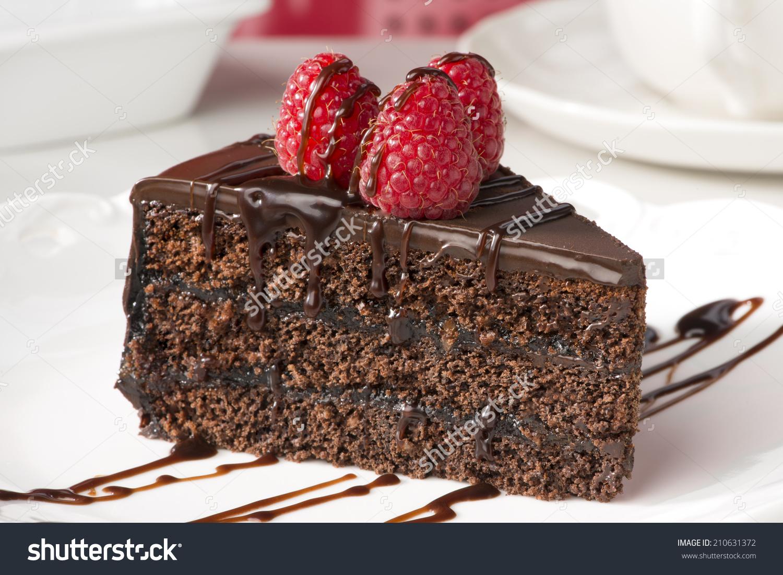 Slice Of Chocolate Cake.