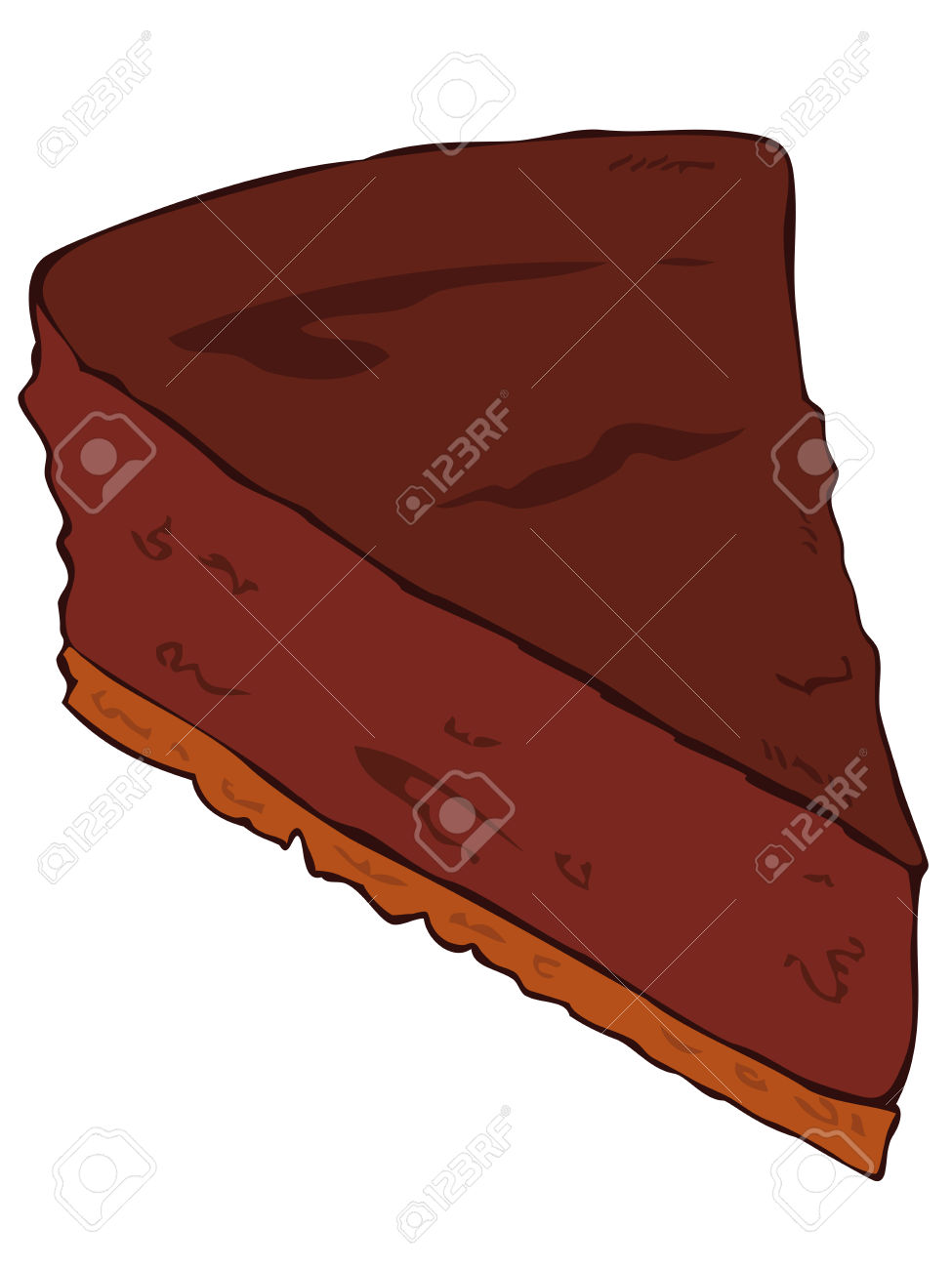 Chocolate Cake Slice. Royalty Free Cliparts, Vectors, And Stock.
