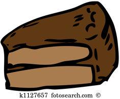 Chocolate cake slice Stock Illustrations. 301 chocolate cake slice.