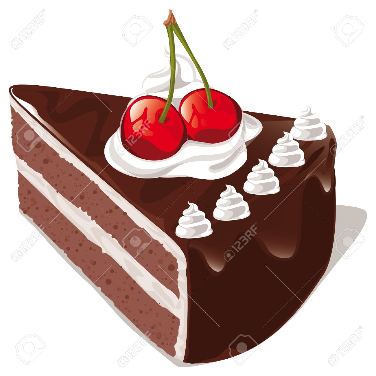 Chocolate Cake Royalty Free Cliparts, Vectors, And Stock.