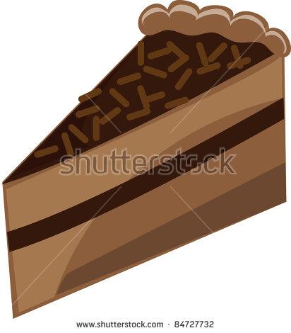 Clip Art Illustration Fancy Chocolate Cake Stock Illustration.