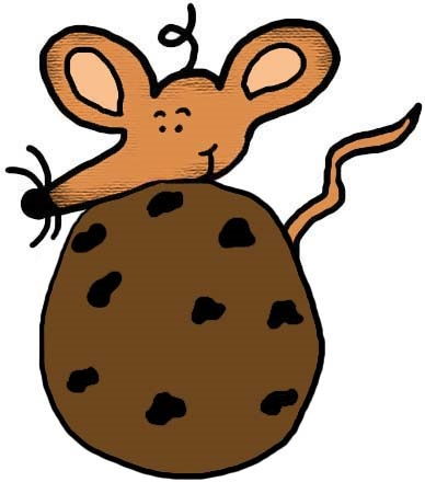 Mouse With Chocolate Chip Cookie Clipart.