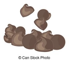 Clip Art of Chocolate chip cookies.