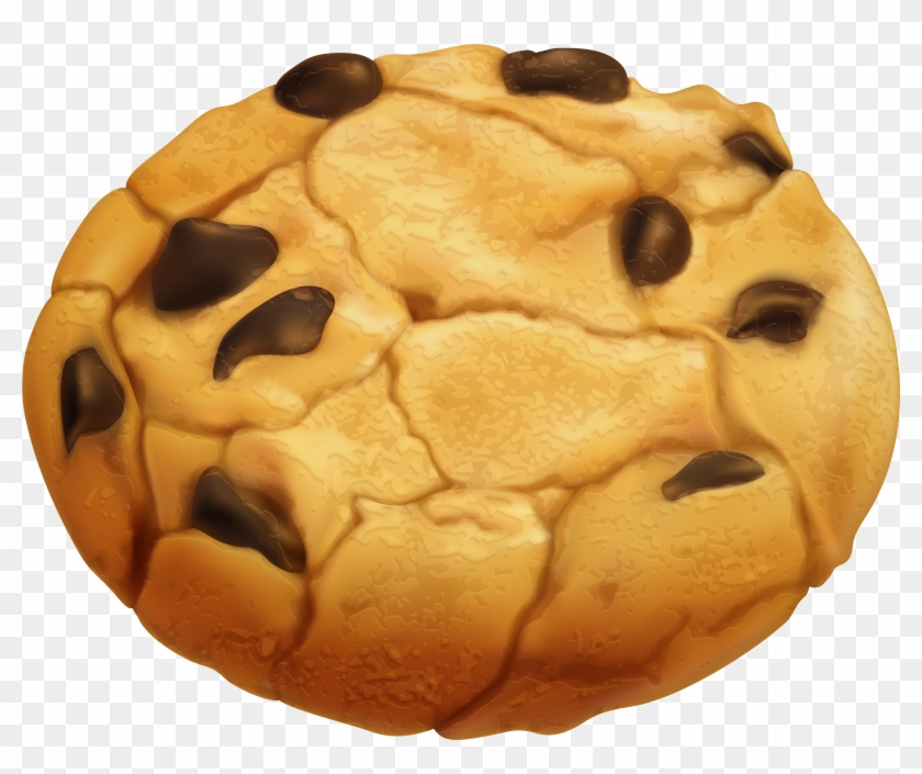 Biscuit Clipart Chocolate Chip Cookie.