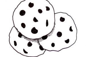 Chocolate chip cookies clipart black and white » Clipart Station.