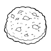 Chocolate Chip Cookie Clipart Black And White.