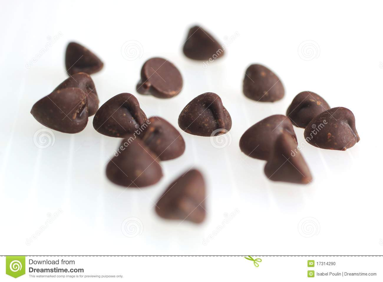 Chocolate chips clipart.