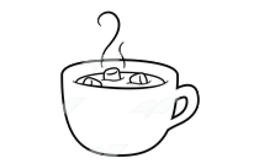 Hot Chocolate X Clipart Black And White Transparent Png.