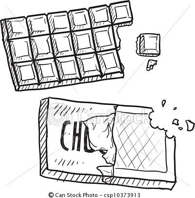 Chocolate clipart black and white 9 » Clipart Station.